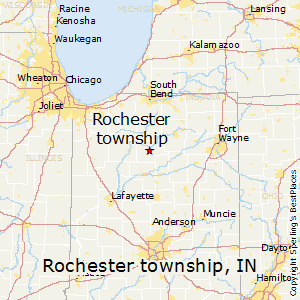 Rochester_township,Indiana Map