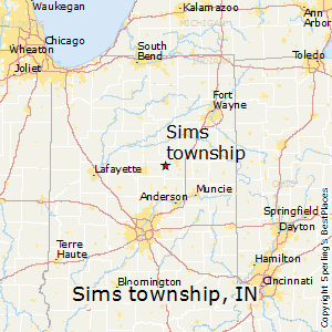 Sims_township,Indiana Map