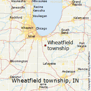Wheatfield_township,Indiana Map