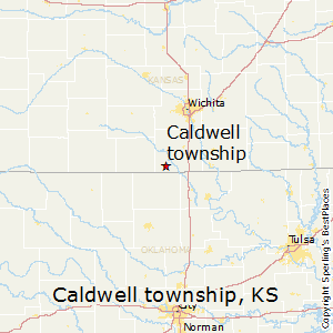 Caldwell_township,Kansas Map