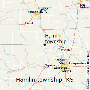 Hamlin_township,Kansas Map