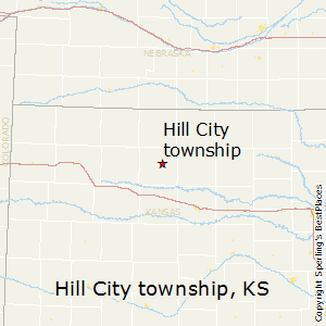 Hill_City_township,Kansas Map