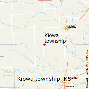 Kiowa_township,Kansas Map