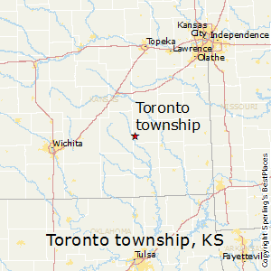 Toronto_township,Kansas Map