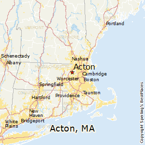 Acton,Massachusetts Map