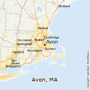 Avon,Massachusetts Map