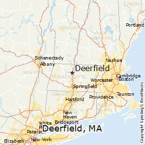 Deerfield,Massachusetts Map
