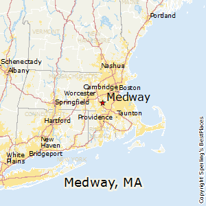 Medway,Massachusetts Map