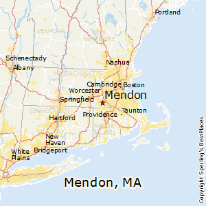 Mendon,Massachusetts Map