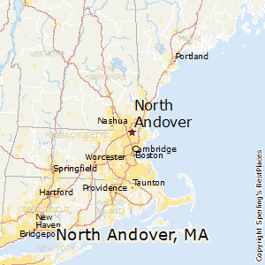 North_Andover,Massachusetts Map