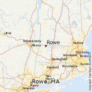 Rowe,Massachusetts Map