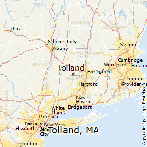 Tolland,Massachusetts Map