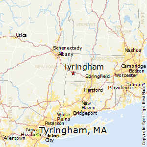 Tyringham,Massachusetts Map