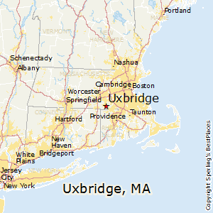 Uxbridge,Massachusetts Map