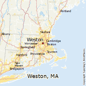 Weston,Massachusetts Map