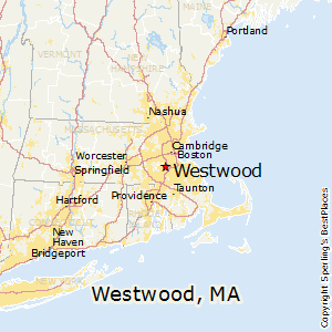 Westwood,Massachusetts Map