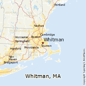 Whitman,Massachusetts Map