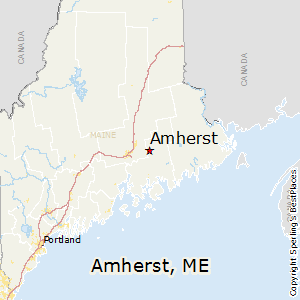 Amherst,Maine Map