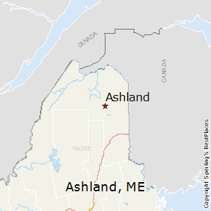 Ashland,Maine Map