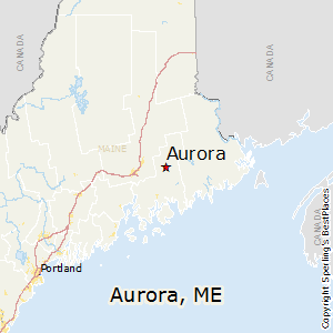Aurora,Maine Map