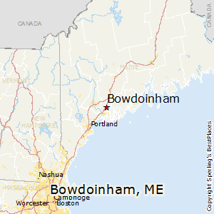 Bowdoinham,Maine Map