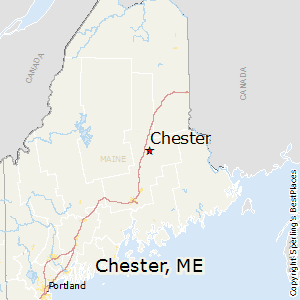 Chester,Maine Map