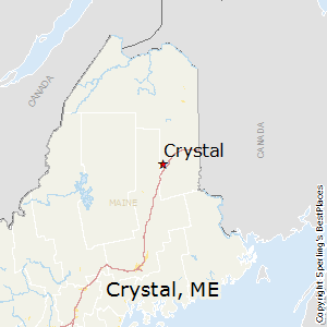 Crystal,Maine Map