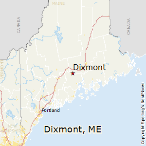 Dixmont,Maine Map