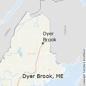 Dyer_Brook,Maine Map
