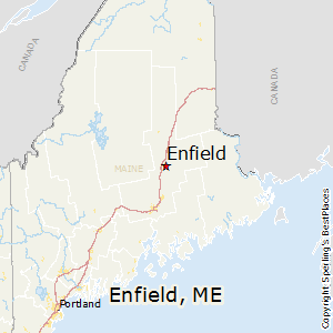Enfield,Maine Map