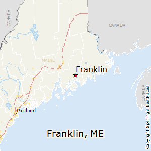 Franklin,Maine Map