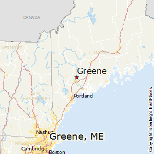 Greene,Maine Map