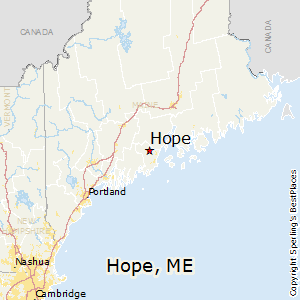 Hope,Maine Map