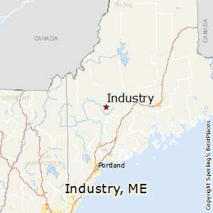 Industry,Maine Map