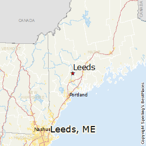 Leeds,Maine Map
