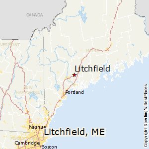 Litchfield Maine Map.Best Places To Live In Litchfield Maine