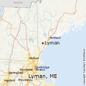 Lyman Maine Map.Best Places To Live In Lyman Maine