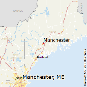 Manchester,Maine Map