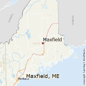 Maxfield,Maine Map