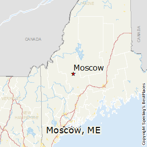 Moscow,Maine Map