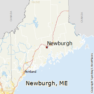 Newburgh,Maine Map