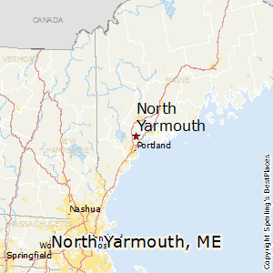 North_Yarmouth,Maine Map