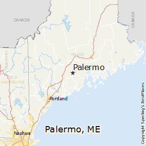 Palermo,Maine Map