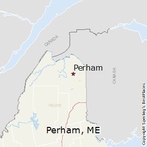 Perham,Maine Map