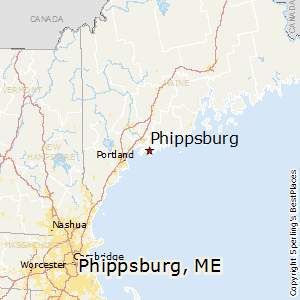 Phippsburg,Maine Map