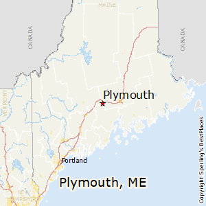 Plymouth,Maine Map