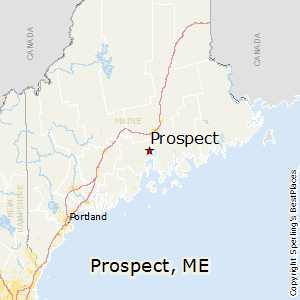 Prospect,Maine Map