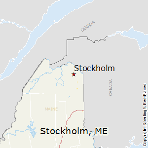 Stockholm,Maine Map