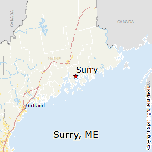 Surry,Maine Map