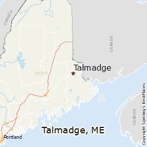 Talmadge,Maine Map